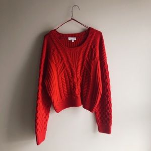& Other Stories / Red Cable Knit Sweater / Size L